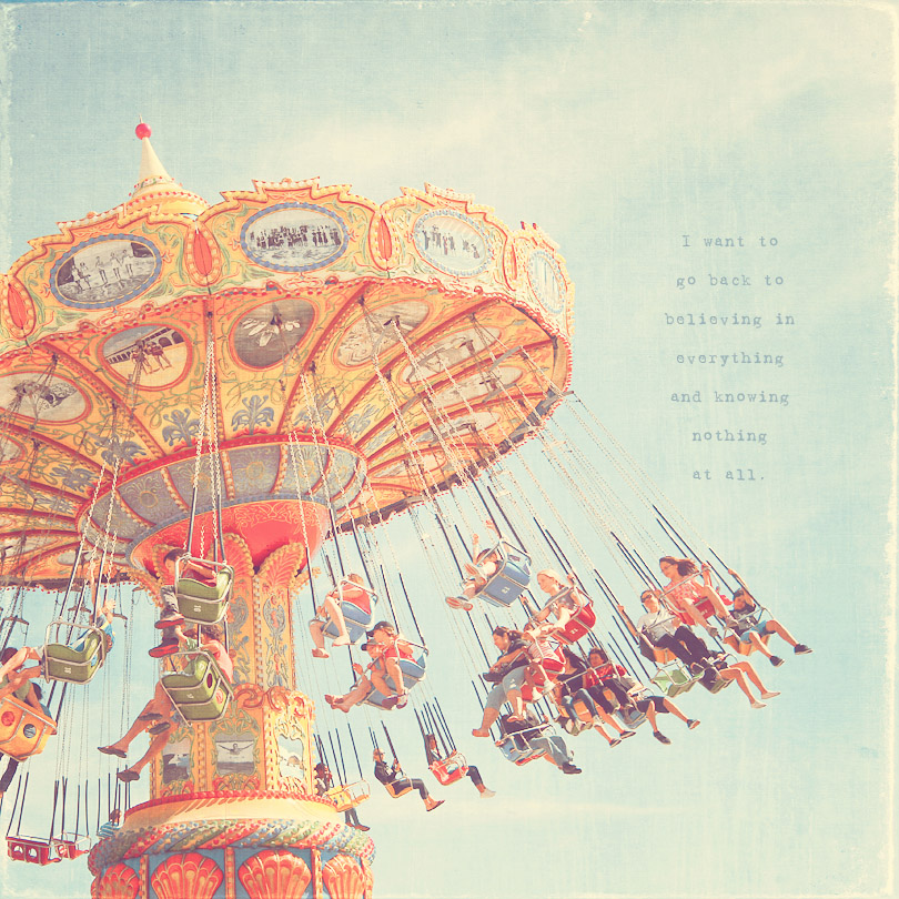 carnival art print, flying swing art, carnival photography
