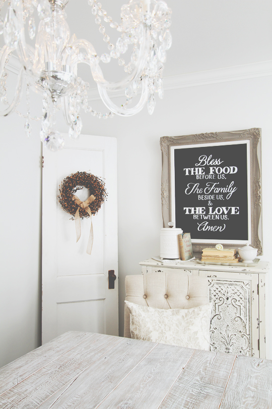 all white DIY chalkboard paint wall
