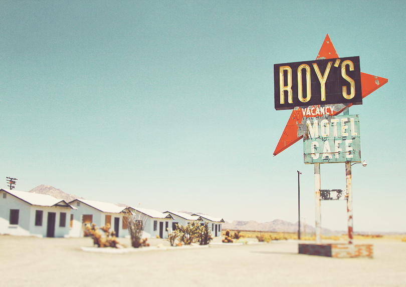 Roy's Motel and Cafe, Art Print