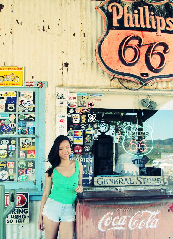 route 66 selfie, hackberry arizona