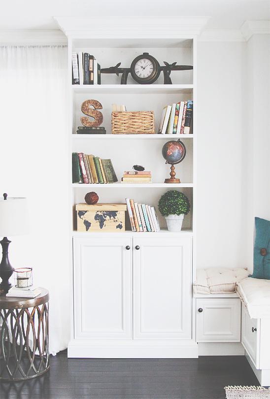 book case decor